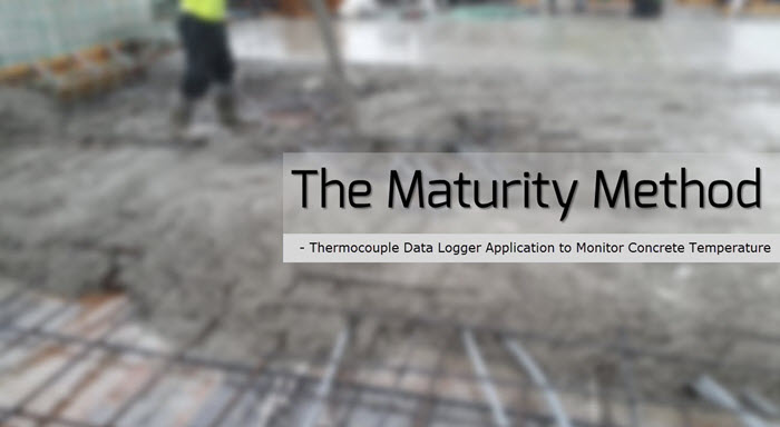 temperature monitoring of concrete maturity