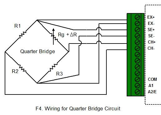 wiring for quarter bridge circuit: